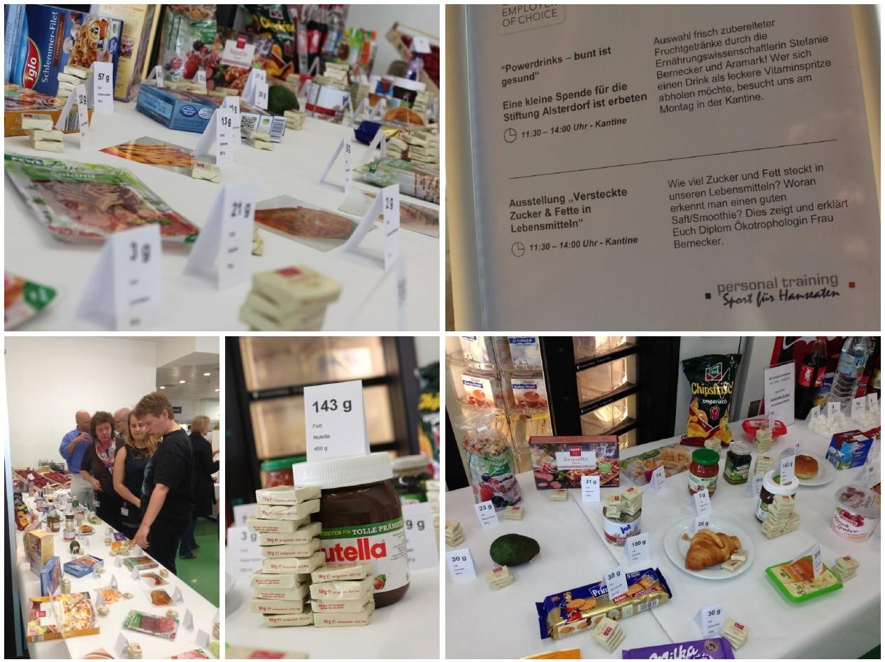 Ernährungswissenschaftliche Ausstellung im Rahmen der NXP-Gesundheitswoche, April 2013